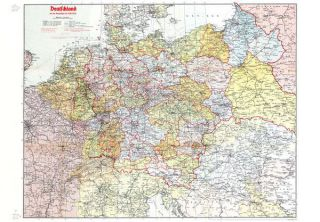 landkarte deutschland 1900 Deutschland (Großdeutsches Reich) mit Gaugrenzen 1942