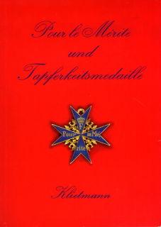 Pour le Merite und Tapferkeitsmedaile (Klietmann)