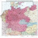 Deutschland 1938 mit Sudetenland - Historische Karte...