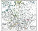 Altgermanien um 450 n.Chr. - Historische Karte (Reprint)