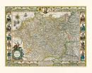 Deutschland - Germania 1607 - Historische Karte (Reprint)