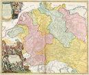 Älteste Flußlaufkarte Deutschlands -...