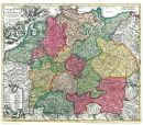 Deutschland 1715 - Historische Karte (Reprint)