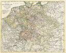 Deutschland 1795 - Postkutschenstrecken - Historische...