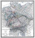 Deutschland 1865 - Historische Karte (Reprint)