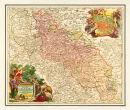 Schlesien 1724- Historische Karte (Reprint)