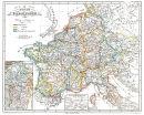 Europa - Die Reiche der Karolinger um 850 - Historische...