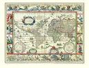 Weltkarte 1635-Willem Janszoon Blaeu- Historische Karte...