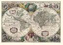 Weltkarte 1641-Henricus Hondius- Historische Karte (Reprint)