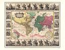 Weltkarte 1652-Visscher- Historische Karte (Reprint)