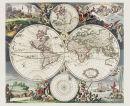 Weltkarte um 1660-Justus Danckert- Historische Karte...
